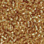 TOHO Round Beads 11/0 Silver-Lined Med Topaz, TR-11-22B