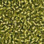 Бисер TOHO круглый 11/0, Внутреннее серебрение лаймово-зеленый