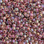 TOHO Round Beads 11/0 Inside-Color Rainbow Crystal/Strawberr