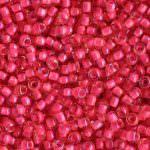 TOHO Round Beads 11/0 Luminous Light Topaz/Neon Pink-Lined