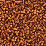 TOHO Round Beads 15/0 Silver-Lined Burnt Orange