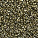 TOHO Round Beads 15/0 Inside-Color Crystal/Gold-Lined