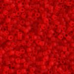 TOHO Round Beads 15/0 Transparent-Frosted Light Siam Ruby