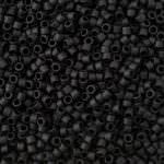 Бисер TOHO Treasuse (трежер) 11/0, Непрозрачный черный, эффект заморозки