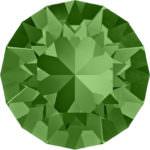 1088 Swarovski Xirius Chaton Fern Green SS39