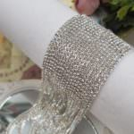 Silver-Plated Brass Crystal Rhinestone Cup Chain