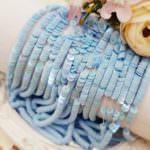 Французские плоские круглые пайетки 4 мм, Синий Ориенталь, Франция, Langlois-Martin