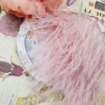 Natural Ostrich Feather Trim, Pale Pink Color, 5 cm