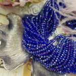 Rondelle Beads 3 mm, Blue AB Color