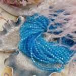 Rondelle Beads 2-4 mm, Light Blue (AB) Color