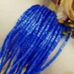 Two-cut Preciosa Beads, Stranded, 11/0 size, 35061 Blue color