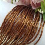 Two-cut Preciosa Beads, Stranded, 11/0 size, 15101 Brown color