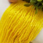 Two-cut Preciosa Beads, Stranded, 11/0 size, 85011 Yellow color
