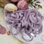 Viscose Chenille Thread, Gray Color, 1m