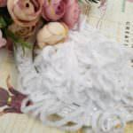 Viscose Chenille Thread, White Color, 1m
