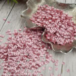 Italian Cup Sequins/Paillettes, Pink Color with Satin Aspect #306W, Andrea Bilics