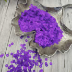 Italian Flat Sequins/Paillettes, Violet with Satin Aspect #556W, Andrea Bilics