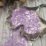 Italian Flat Sequins/Paillettes, Lilac with Metallic Aspect #5009, 4 mm, by Andrea Bilics