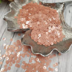 Italian Flat Sequins/Paillettes, Antique Rose with Metallic Aspect #3029, 4 mm, by Andrea Bilics