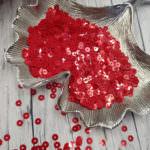 """Итальянские пайетки, плоские, красный, эффект """"Металлик"""" #4369, 4 мм, Andrea Bilics"""