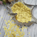 Italian Flat Sequins/Paillettes, Yellow Gold with Satin Aspect #236W, Andrea Bilics