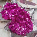 Flat Glitter Sequins/Paillettes, Fuchsia Color, 4 mm