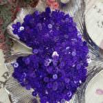Плоские круглые пайетки фиолетового цвета с эффектом блеска, 4 мм