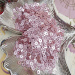 Flat Glitter Sequins/Paillettes, Pale Pink Color, 4 mm