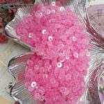 Flat Glitter Sequins/Paillettes, Pink Color, 4 mm