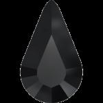 4328 Xilion Pear Swarovski Crystal, Jet, 10x6