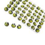 1122 Round Rivoli Swarovski Crystal Olivine, 12 mm