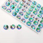 1122 Round Rivoli Swarovski Crystal Paradise Shine, 12 mm