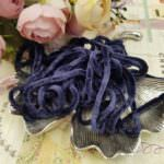 Viscose Chenille Thread, Dark Blue Color, 1m