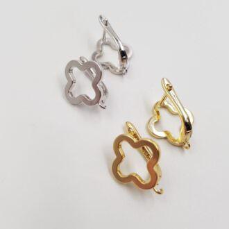 Latch Back Earring components Rhodoium, Gold EC069, EC070