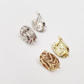 Latch Back Earring components Rhodoium, Gold EC071, EC072