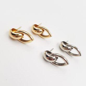 Push Back Earring Components Gold, Rhodium EC082, EC083