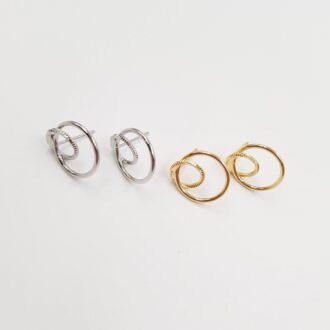 Push Back Earring Components Gold, Rhodium EC086, EC087