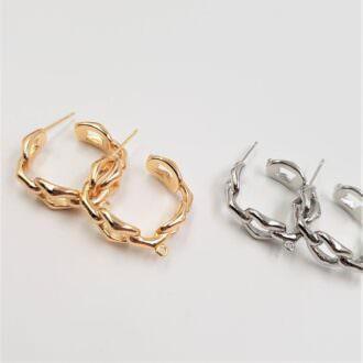 Push Back Earring Components Rhodium, Gold EC089. EC090