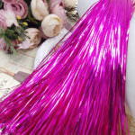 Flat Metal Strips for Hand Embroidery, Fuchsia Color, 1mm width