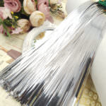 Flat Metal Strips for Hand Embroidery, Silver Color, 2mm width