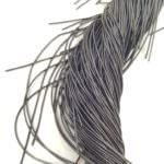 Smooth French Wire, 1 mm diameter, Dark Grey Color, K4994