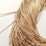 Smooth French Wire, 1 mm diameter, Pale Bronze, K7590