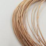 Жесткая канитель, тёмное розовое золото, 1 мм толщина, KS7710