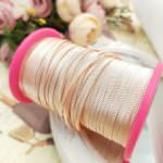 Triangle Embossed Metal Strip for Hand Embroidery, Rose Gold, 2mm width
