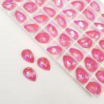 4320 Pear Shape Swarovski Crystal Lotus Pink DeLite 14x10