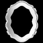 4142/S Swarovski Tombac Settings Rhodium Plated 14x11mm