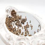 Fire Polished Czech Glass Beads Bronze 2mm, FP1-02-B23980