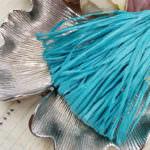 Raffia Matt Finish, Aqua Color, 5 mm width