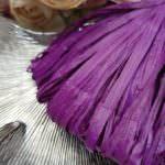 Raffia Matt Finish, Egg Plant Color, 5 mm width