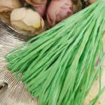 Рафия, матовый зеленый цвет, ширина 5 мм